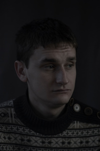 Volodymyr, 22, worker, picture was taken after he spent 12 months in the war zone, December 2015, Ukraine.