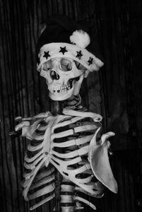 Santa-Capped Skeleton, New York City