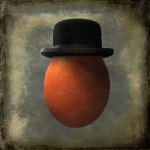Portrait of an Egg a Bowler Hat