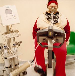 Piancavallo, Italy - monitoring of vital functions for an obese patient at hospital © Simone Casetta