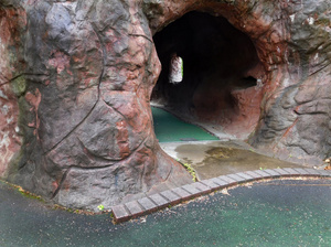 Cave at Abandoned Miniature Golf Course