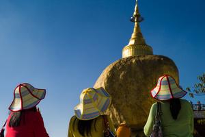 Praying women at Golden Rock
