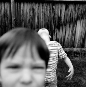 "Jefferson & John Thomas. Provo, UT. From the series ""Childhood Reveries""  © Brian Shumway"