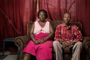 Tshehle Solomon Hlalele with his wife Maria Matlebel - Welkom, South Africa 2015