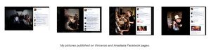 My pictures published on Vincenzo and Anastasia Facebook pages.