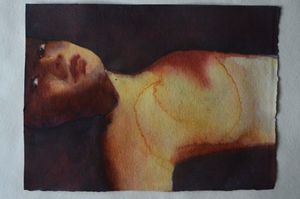 Wounded, 2014. Painting, photography, work on paper. Showing at Salamatina Gallery. Courtesy Art Paris Art Fair.