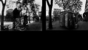 Boulevard de la Madeleine, 1925, © Eugene Atget. Boulevard de la Madeleine, 1998, © Christopher Rauschenberg.