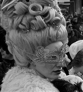 Woman with Diamond Mask I