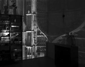 Camera Obscura Image of Antwerp Cathedral Entrance in Room, Belgium, 2006 © Abelardo Morell