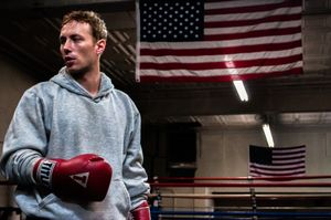 Actor/director Kent Moran, in the ring between takes.