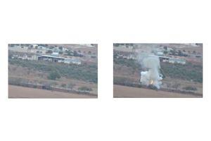 ISIS Tank Destroyed in Kobani by YPG Kurdish Fighter - Syria