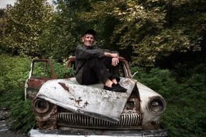 """Volga"" driver. Eshera village, Abkhazia. © Olga Ingurazova"