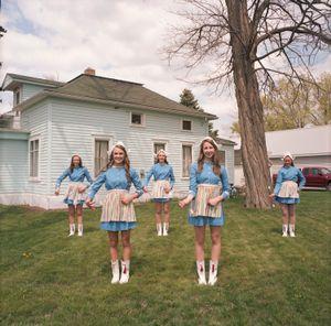 Dutch Cheerleaders, Tulip Festival, Orange City, Iowa, 2014