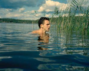 Tobias swimming