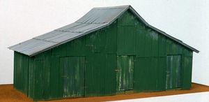 Green Warehouse, Mixed media, 1996