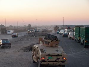 Iraqi Armi truck near Southern Baghdad