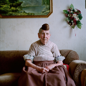 Anna Pawelczyk (b. 1921) in her garb for everyday life, Schaumburger Land, Germany, 2010. From the series: Village Queens. The last women in their traditional peasant garbs