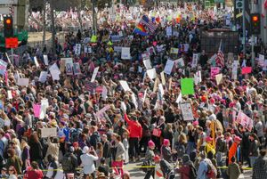 750,000 Protesters, Women's Day March, Jan. 21, 2017, Los Angeles, CA