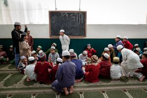 Every Saturday Muslim who live and work in the Tor Pignattara neighborhood in southeast Rome send their kids to the Mosque to study the Quran.