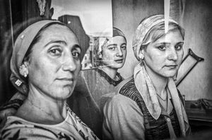"Refugees from Chechnya. Tbilisi. 2005. From the book ""Woman With a Monkey—Caucasus in Short Notes and Photographs."""