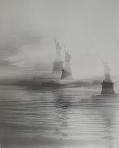 Lady Liberty II, 2015. Black and white gelatin silver print © Erik Steffensen. Exhibitor: Galleri Bo Bjerggaard