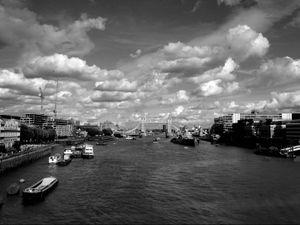 Tower Bridge, Seen From London Bridge, London