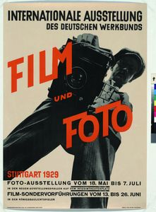 Exhibition poster for Film und Foto, stuttgart,1929.