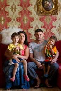 A well-off young Gypsy family in Pärnu. © Annika Haas