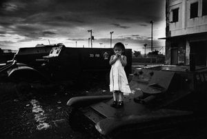 "Nicaragua. Managua. 1981. From the book ""War Photographer: Between Shadow and Light"" © Christine Spengler"