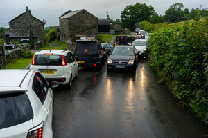Small roads in the park can lead to congestion.