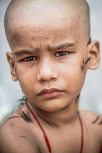 The homeless children. The haircut