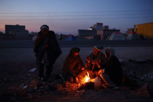 Before sunrise on the northern edge of Herat in western Afghanistan