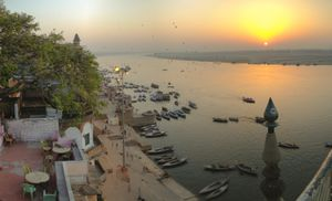 Sunrise in Varanasi from many perspectives.