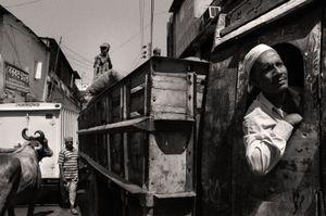 Regular traffic jam at the wholesale market. Farashganj, 2005. © Munem Wasif