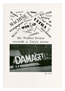 Mr. Walker Evans Records a City's Scene, Creative Art © Walker Evans and courtesy of The Metropolitan Museum of Art