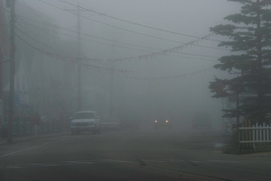 Main Street in Fog