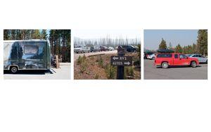 """Twentyone Yellowstone Parking Lots"" © 2013, Lewis Koch"