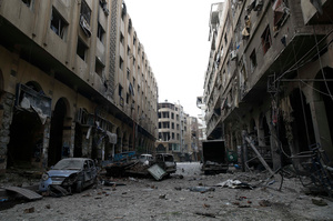 Destructed city of Douma, Syria, 13 December 2015.