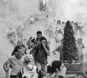 Tear gas in heaven.