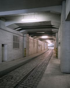 Tunnel where Forced Laborers had to assemble Airplanes, Tempelhof Airport, Berlin