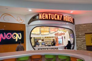 "June 19, 2014 - Isfahan, Iran. Customers at the ""Kentucky House"" one of the fast food restaurant built inside the Isfahan City Center Mall, one of the biggest in the country. © Thomas Cristofoletti / Ruom"