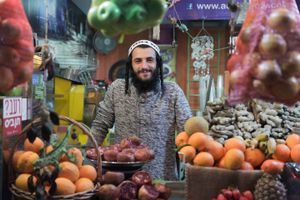 Nachum, the nicest fruit vendor in Tel Aviv
