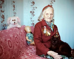 "Lida Pietrovna, Maladechna, Nurse. From the series, ""I Reminisce and Cry for Life (Women veterans of II World War in Belarus)"" © Agnieszka Rayss. Finalist, LensCulture Exposure Awards 2013."