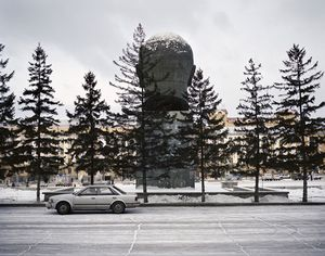Worlds largest bust of Lenin. Ulan Ude. Eastern Siberia, November 2004 From the book, Motherland, by Simon Roberts © Simon Roberts