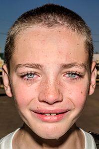 Nathen, a Farm Boy. Iowa State Fair. 2017 © Bruce Gilden. Courtesy the artist and Leica Camera.