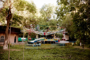 A carousel near Babur park.