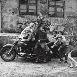 First Bikers, Klaipeda, 1974