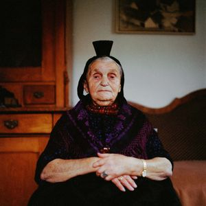 Anna Katharina Suessmann, Schwalm, Hesse, 2009. From the series: The last women in their traditional peasant garbs