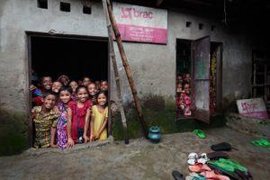 "School in a ""slum"" district"