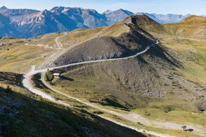 The old military road 'Strada dell'Assietta', Piemonte, Italy,